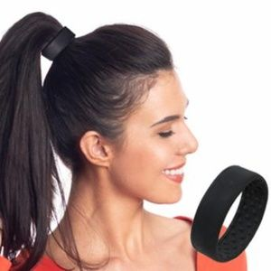 PONY-O Hair Tie Band Clip NEW! Black or Red